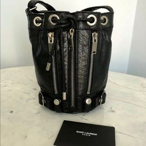 YSL Saint Laurent Mini Rider Bucket Bag